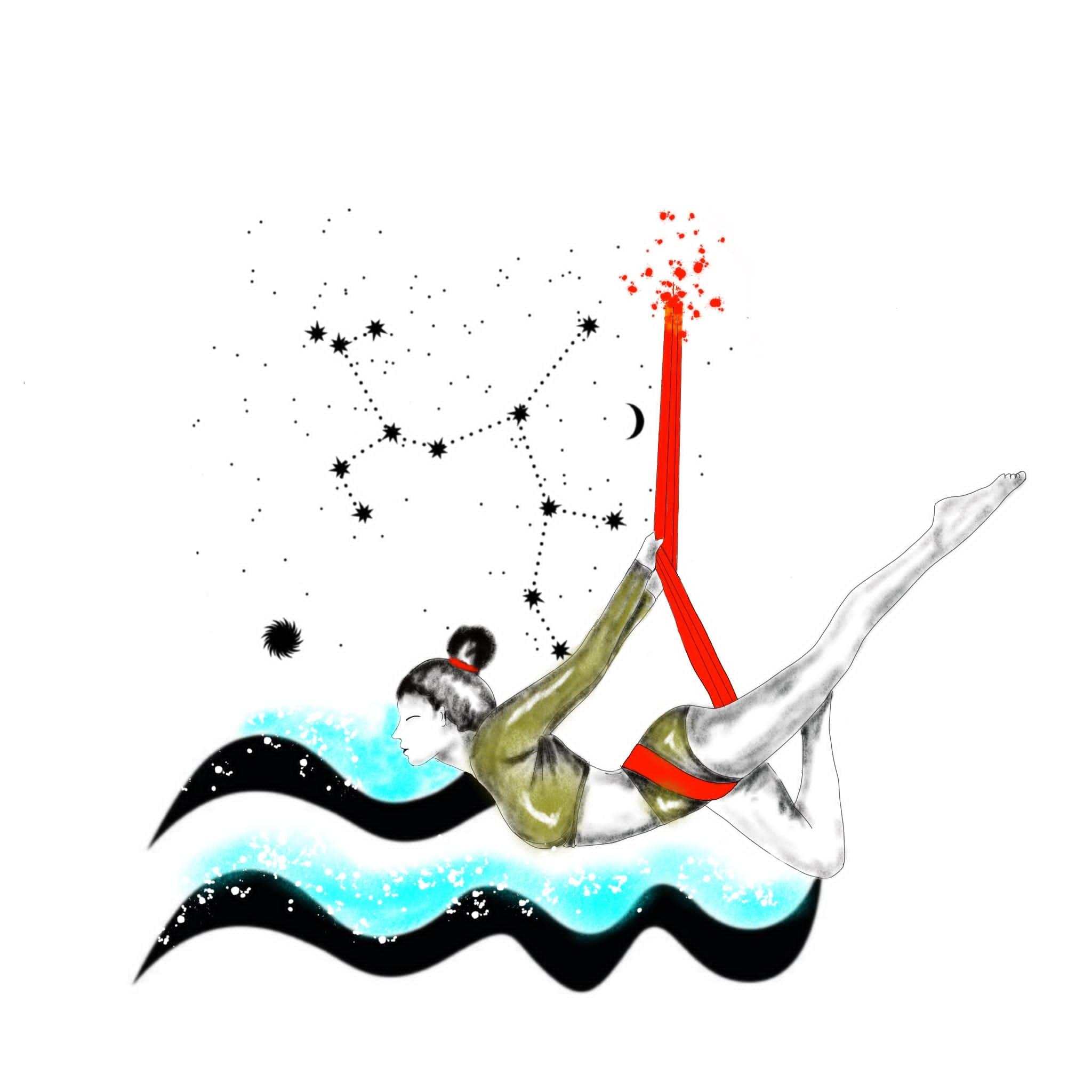 Logo de yoga aéreo Marta en Mijas