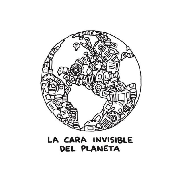 Logo de la cara invisible del planeta